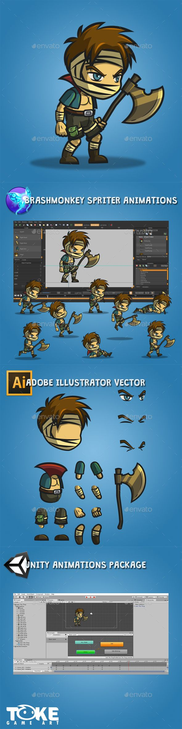 Jack The Thug — Vector EPS sprite spriter • Available