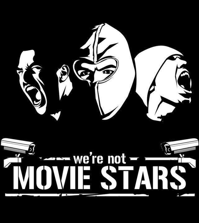 We Are Not Movie Stars Logo Design Art Casual Art