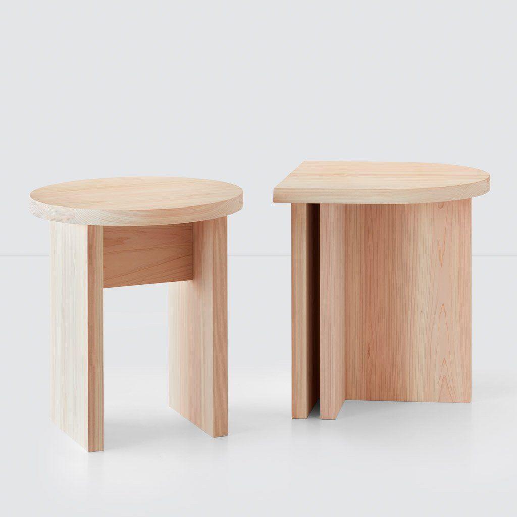 Hinoki Wood Round Side Table Minimalist Wood Accent Tables The Citizenry Round Wood Side Table Wood Accent Table Side Table Wood