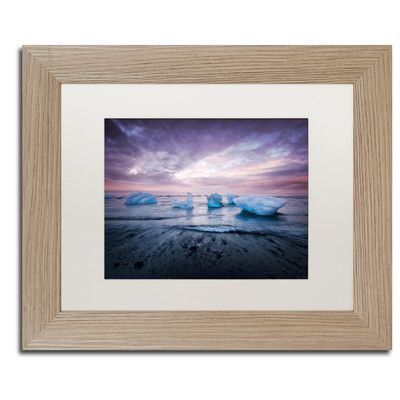Trademark Art Cold Evening in Iceland by Philippe Sainte-Laudy Framed Photographic Print Size: 1