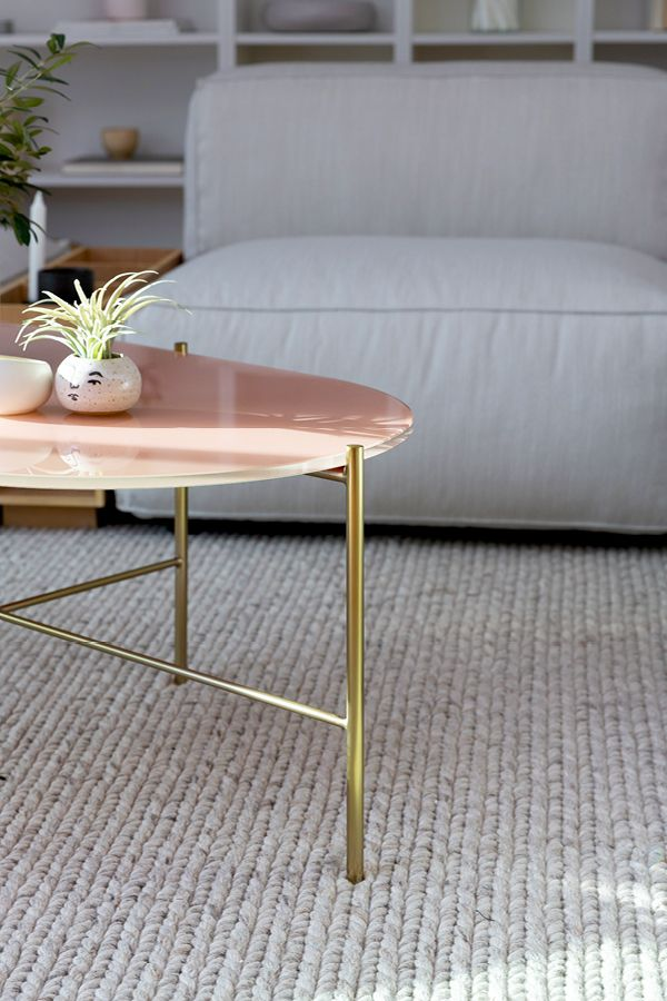 Pink Glass Coffee Table 9