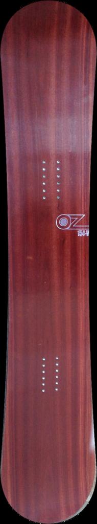 For sale! bloodwood veneer snowboard www.ozsnowboards.com #snowboarding