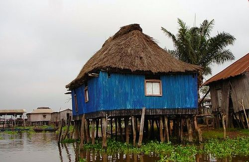Ganvie S Blue Stilt House House On Stilts Unusual Buildings Out Of Africa