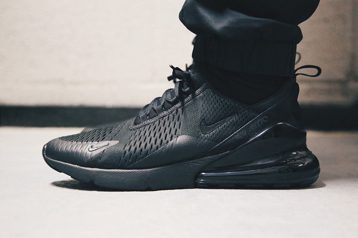 5cbcc472d7b Here Is An On-Feet Look At The Nike Air Max 270 Triple Black