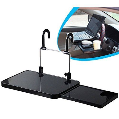 New Black Zone Tech Table Stand Desk Car Laptop and Food Steering Wheel Tray