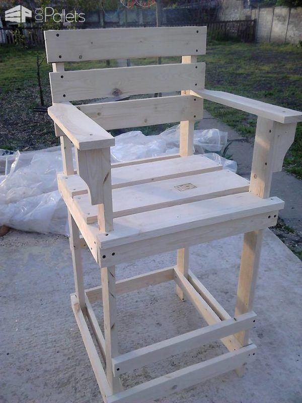 Pallet Bar Stool Tall Bar Chair 1001 Pallets Pallet Bar