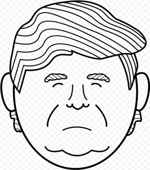 Trump Clipart Face Outline Face Outline Clip Art Outline