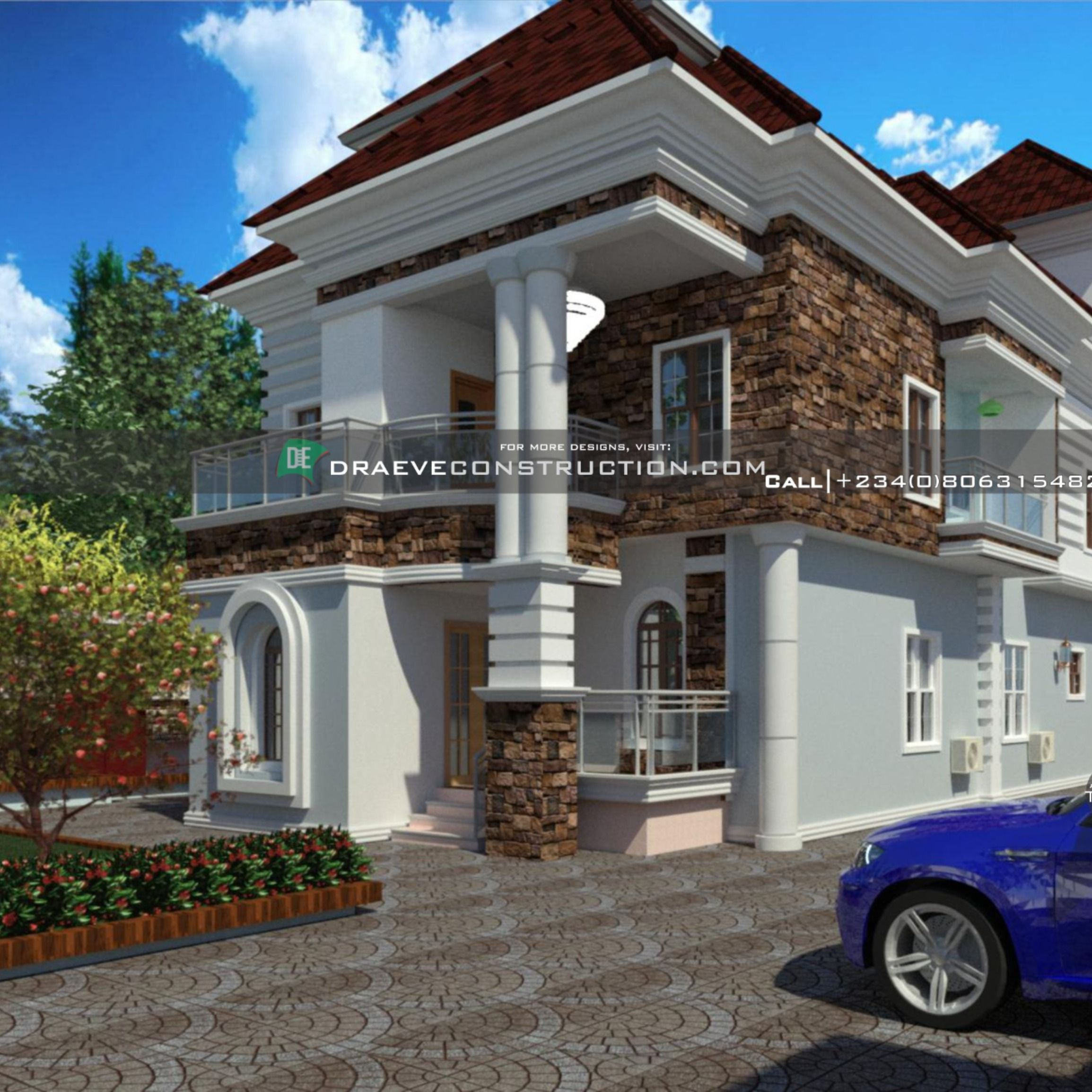 5 Bedroom Penthouse Design In Ghana Building House Plans Designs Architectural House Plans Building Design