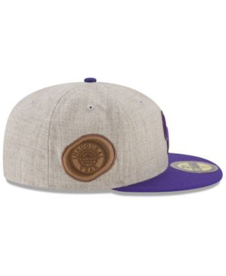 finest selection f1cbd 94df1 New Era Colorado Rockies Leather Ultimate Patch Collection 59FIFTY Fitted  Cap - Tan Beige 7 3 4
