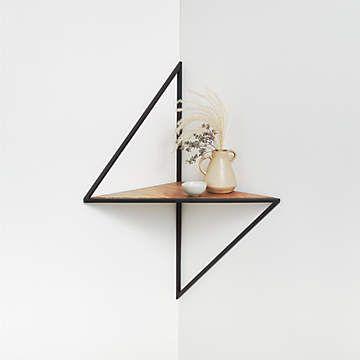Reva Corner Shelf + Reviews | Crate and Barrel