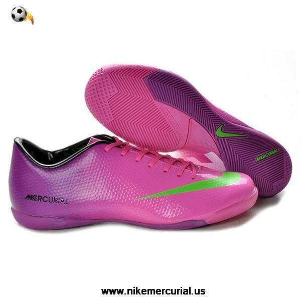 Nike Mercurial Futsal - Peach Blossom Pink Purple and Green Nike Mercurial  Vapor IX IC Indoor Soccer Cleats