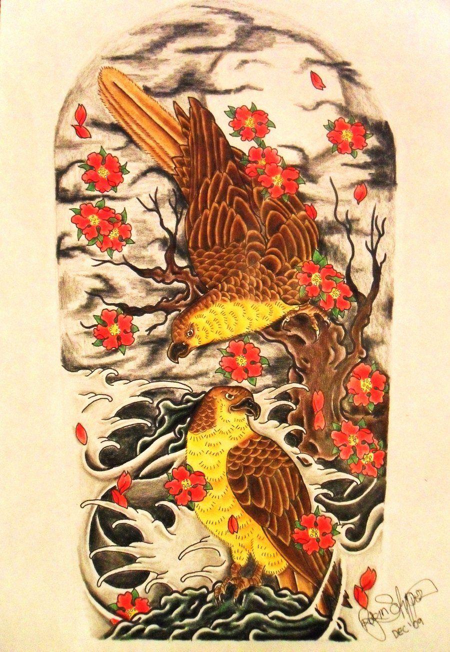 Twin Hawks By Ryanschipper89 Deviantart Com On Deviantart Body Suit Tattoo Hawk Tattoo Art For Art Sake
