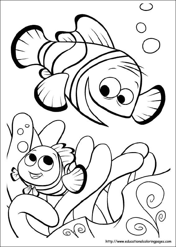 Coloring pages to print Finding Nemo  Toddler Time