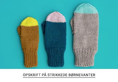 7a3fbfee430 Gratis opskrift på strikkede vanter til børn fra Yarnfreak.dk ...