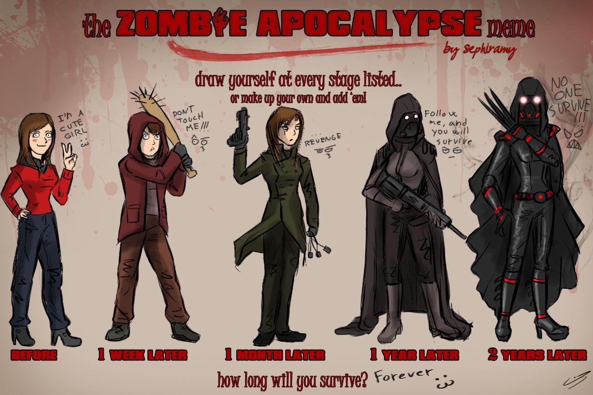 Zombie apocalypse meme by jadeitor on deviantart