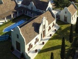 Cape vernacular style architecure house plan south africa for Cape dutch style house plans