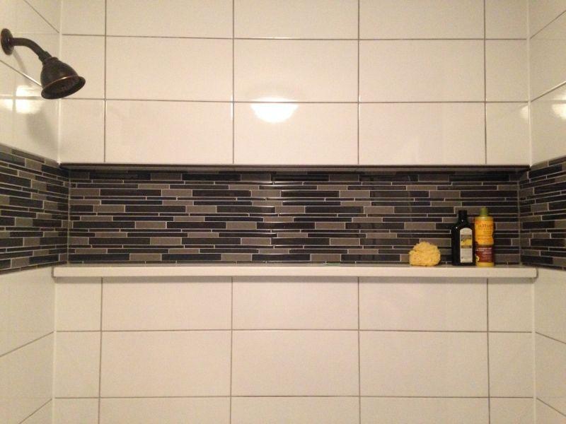 Tiled Shower With Inset Quartz Shelf House Stuff Pinterest
