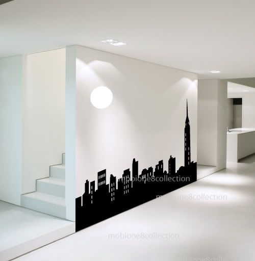 Cool Things To Put In A Basement: New York City Skyline Silhouette SGD – $140