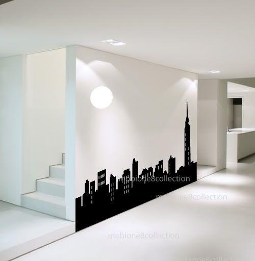 New york city skyline silhouette sgd 140 dise os para for Disenos para pintar paredes
