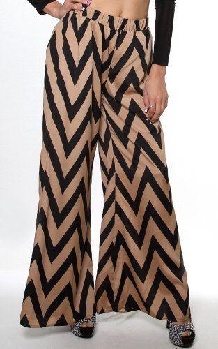 Sexy clubbing Junior Outfits Taupe Black Chevron Zig-Zag Print Palazzo Wide Pants-Taupe-Medium PinkClubwear,http://www.amazon.com/dp/B00AZPOOQ6/ref=cm_sw_r_pi_dp_JoVjrb1AX1FXGWQE