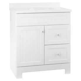 Style Selections Ellenbee 31In X 1834In White Integral Single Delectable Bathroom Vanities At Lowes Inspiration