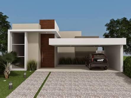 casas contemporaneas terreas - Pesquisa Google banco imagens - fachadas contemporaneas