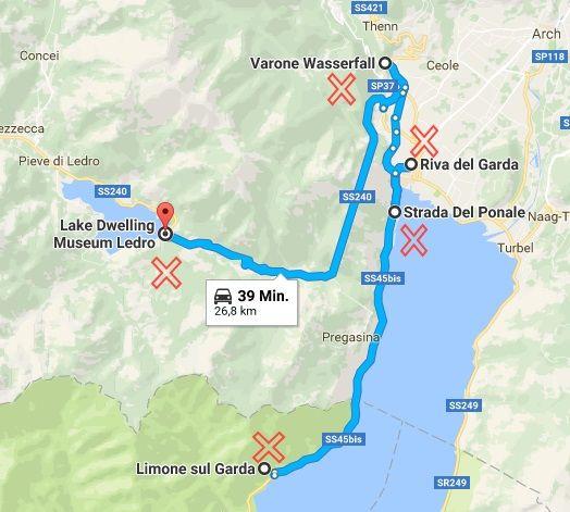 karte gardasee westufer Gardasee   Tipps für einen Ausflug bei Regen und Sonne   Gardasee