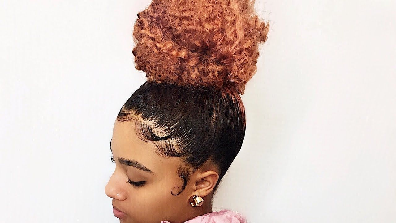 How To: High Bun and Slayed Edges -- Trimming my Daughter ...