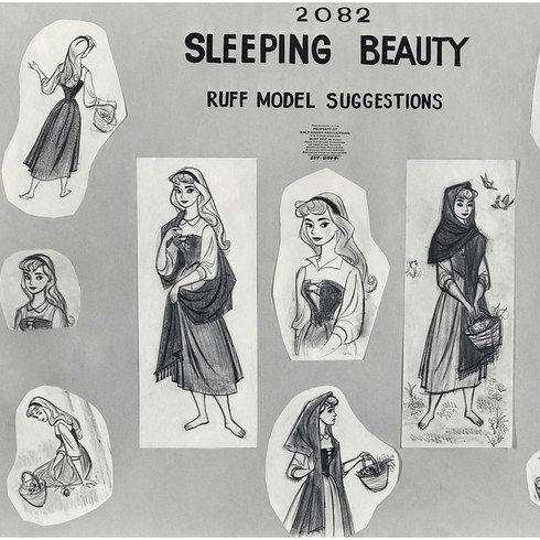 Model sheets of Maleficent and Princess Aurora. | Bellisima