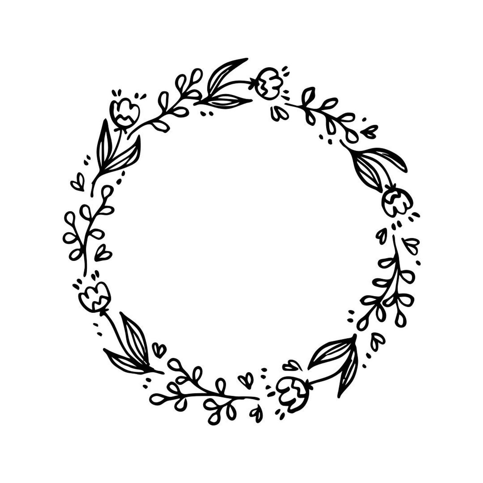 Wedding Vintage Flowers Frame Circle Graphics Svg Dxf Eps Png Etsy In 2020 Art Clipart Flower Frame Vintage Drawing