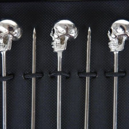 02b7c6107e Ralph Lauren Home - Ayers Cocktail Picks - Set of 6 | Skull & Bones ...