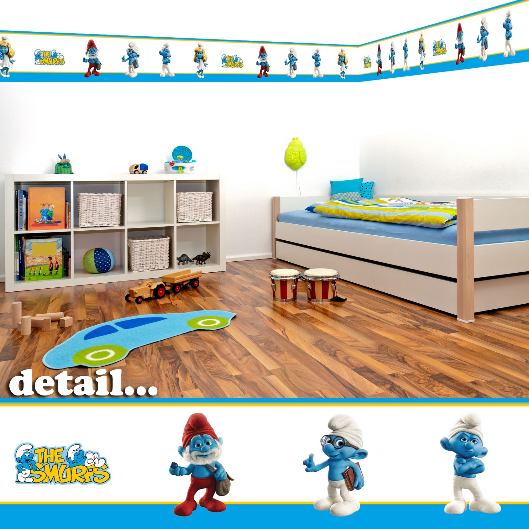 Best Details About Smurfs Self Adhesive Decorative Wall Border 5M Children S Bedroom Playroom 400 x 300