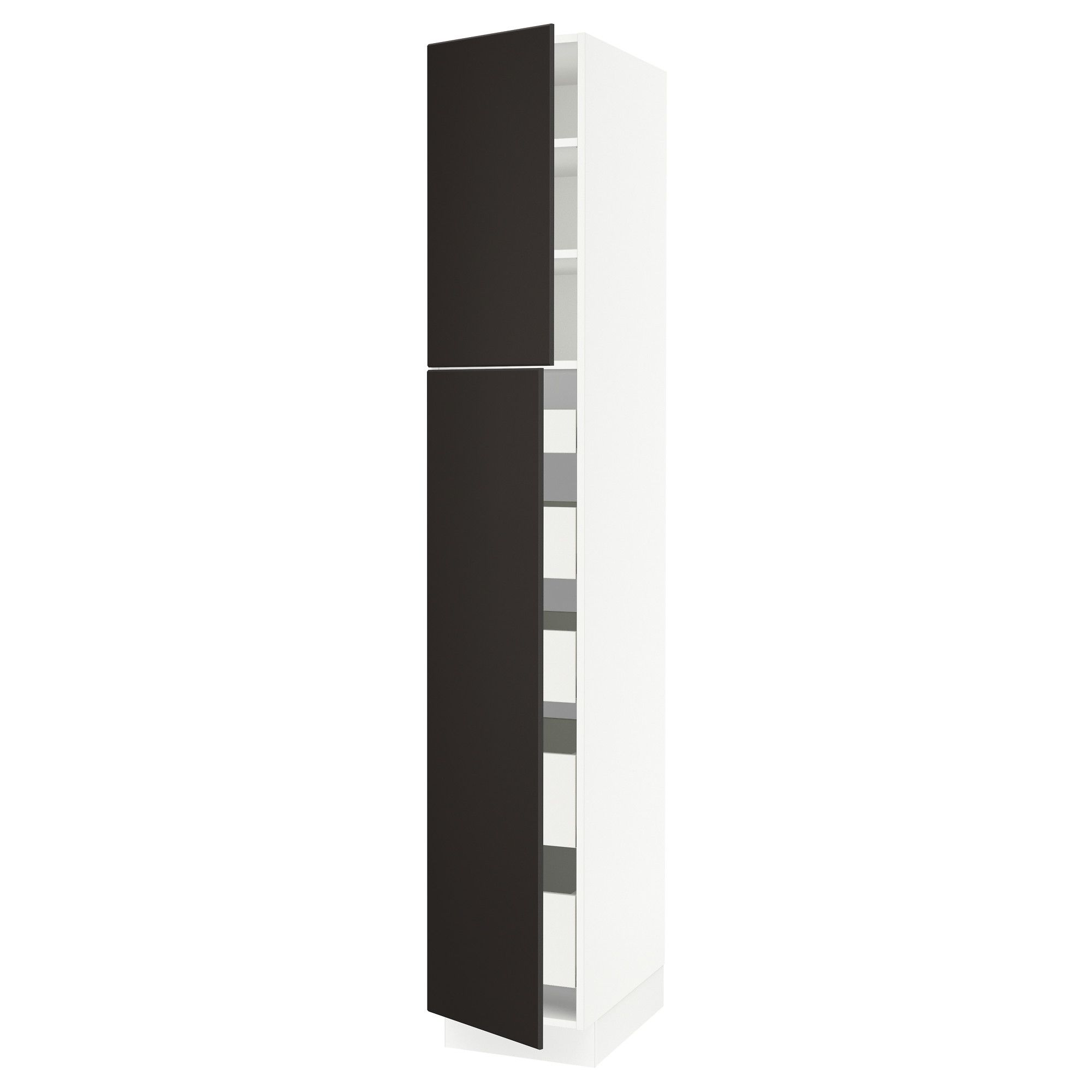 IKEA - SEKTION white High cabinet w/2 doors & 5 drawers Frame colour: