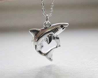 Shark necklace large shark pendant jaws necklace shark week shark necklace large shark pendant jaws necklace shark week charm great white necklace pendant aloadofball Gallery