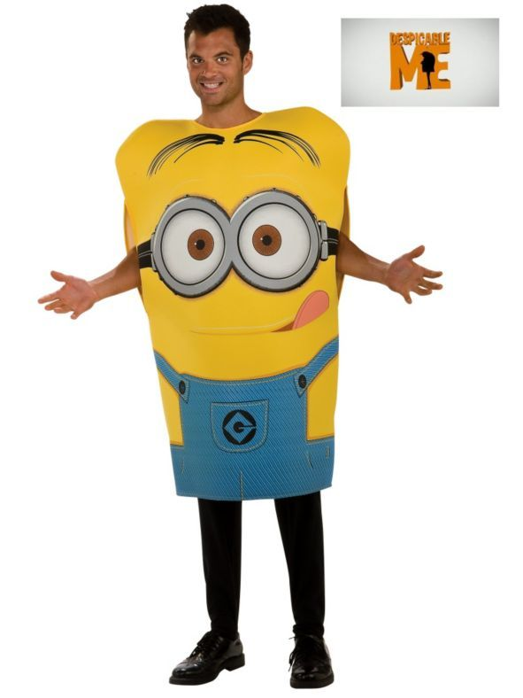 Mens Despicable Me Minion Dave Costume - mens homemade halloween costume ideas