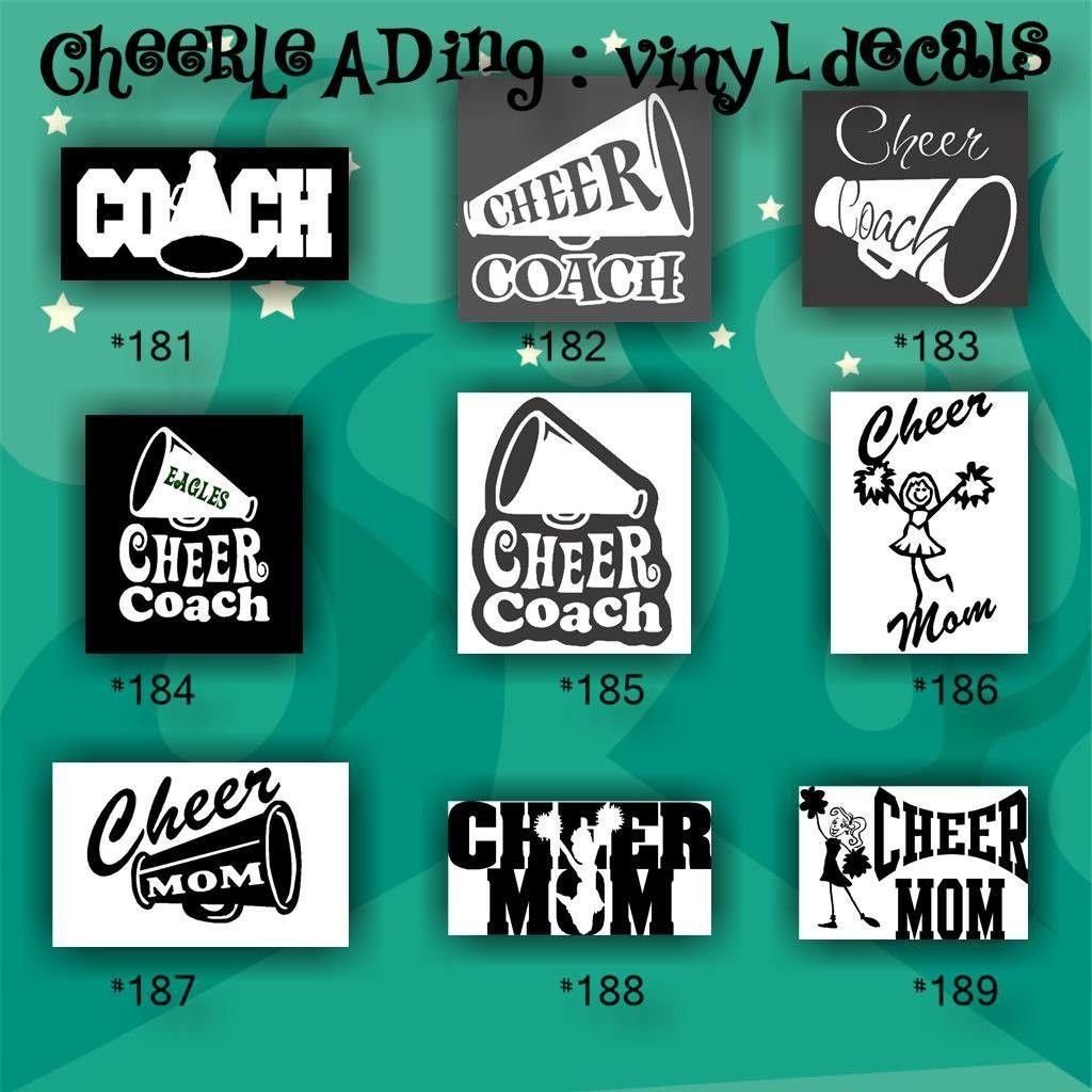 CHEERLEADING Vinyl Decals Custom Vinyl Stickers - Custom vinyl stickers
