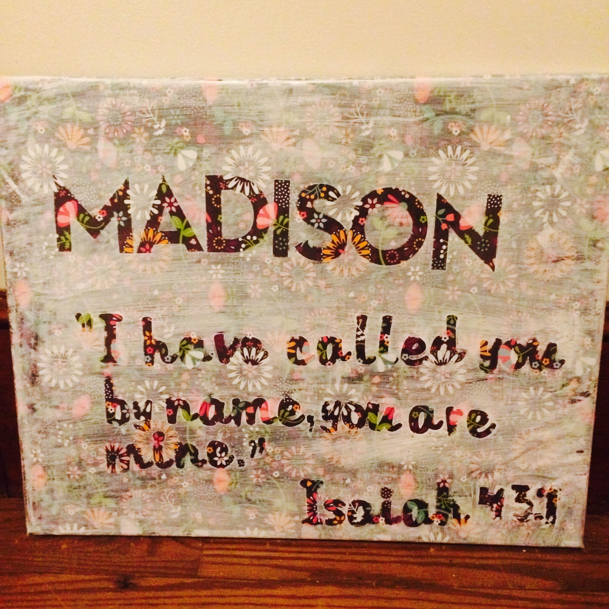 Canvas Quote with Mod Podge