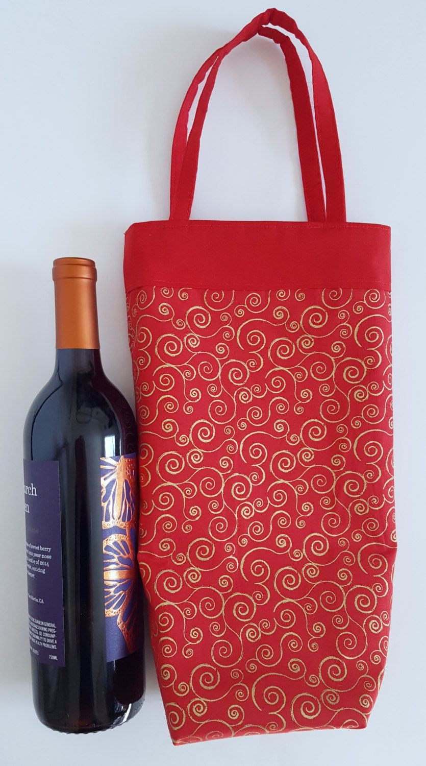 Christmas Wine Tote Wine Tote Bag Wine Bag Christmas Tote Holiday Wine Bag Christmas Party Holiday Party Lined Wine To Etsy Wine Tote Bag Christmas Wine