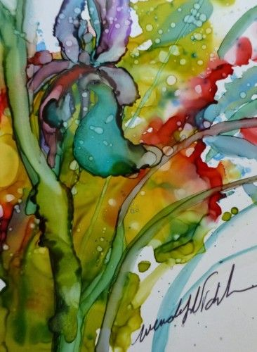 Iris by Wendy Videlock - see the Feature Gallery of Wendys amazing art on the Alcohol Ink Art Website.   http://aiartgroup.com/featured-artist-february-2014/