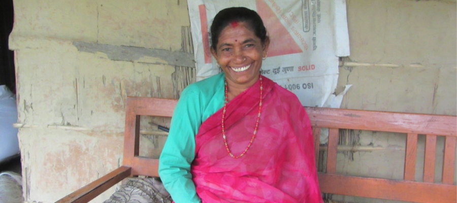 """In Dol's rural village in Nepal, over 60% of mothers suffer from uterine prolapse, and 80% of women never visit a hospital during pregnancy.   Learn how digital tools """"relieved [her] of the burden that [she has] been carrying for 25 years."""" @World Pulse  #WomenWeavetheWeb"""
