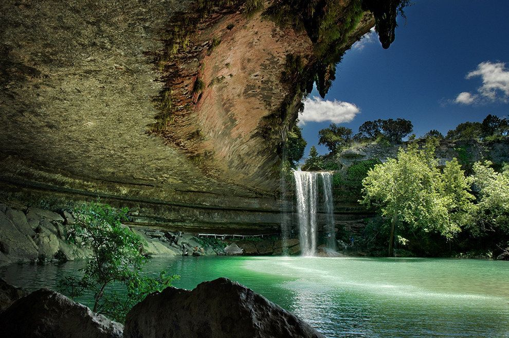 15 Surreal Places In Texas You Need To Visit Before You Die Best Vacation Spots Hamilton Pool Magical Places