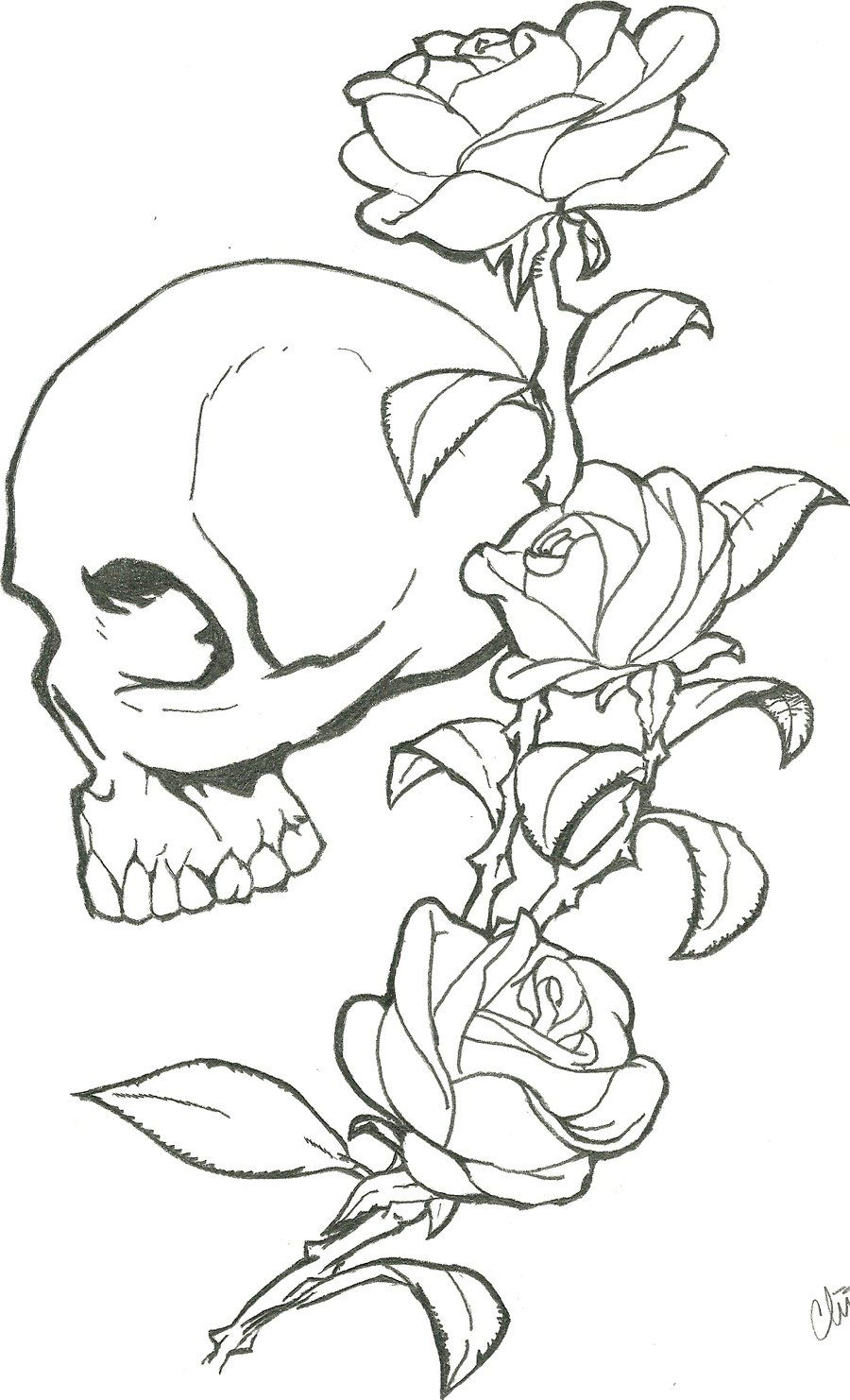 Skull tattoo chh dudrt