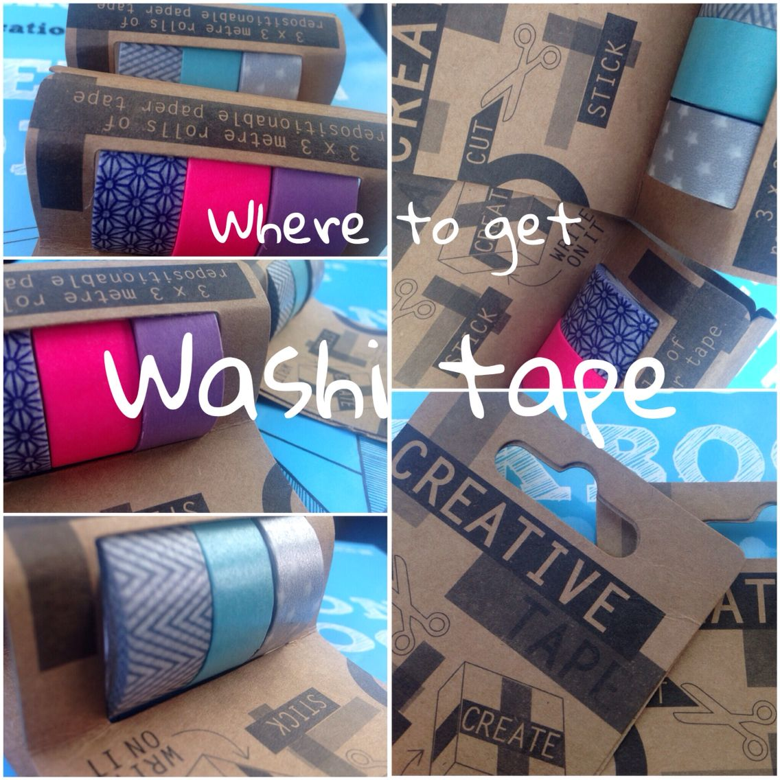 You can get WASHI tape in tesco UK, in the wrapping paper