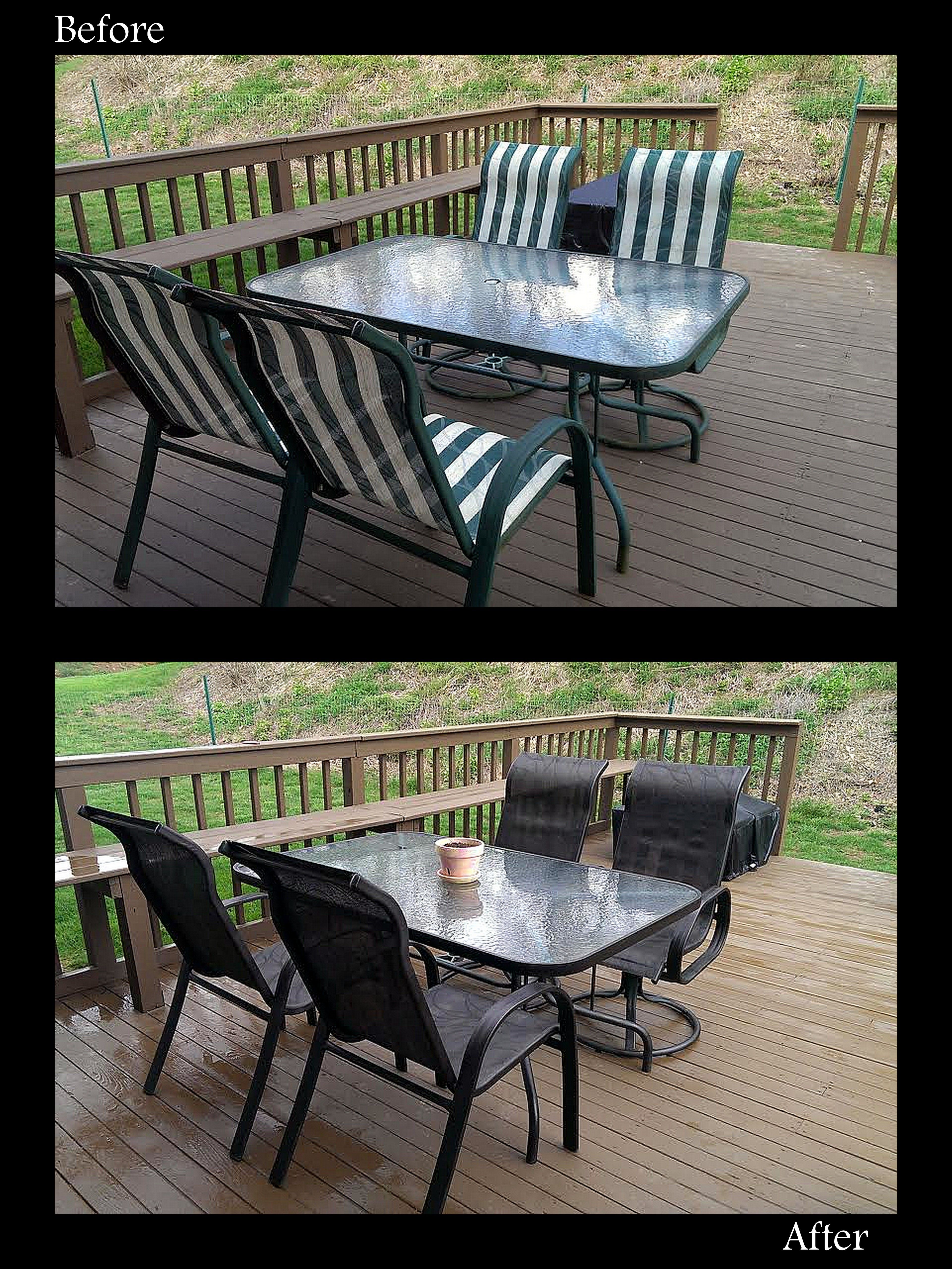redo sling patio chairs oversized leather chair and ottoman sets your old outdated set using spray paint used