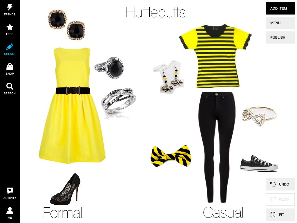 Hufflepuffs by me on Polyvore
