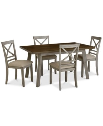 Fairhaven Dining Furniture 5 Pc Set Table 4 Side Chairs