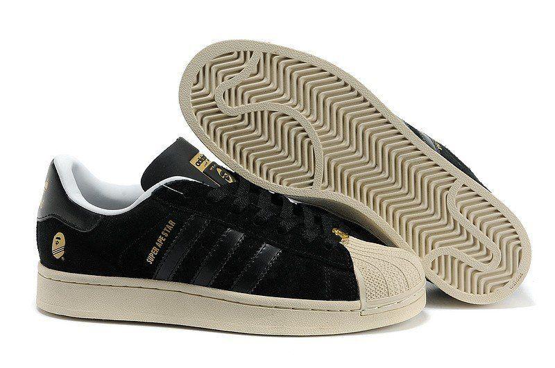 on sale 74d9b a9fa7 ekaC Chaussures de course adidas super ape star homme camo canvas noir or  Acheter France