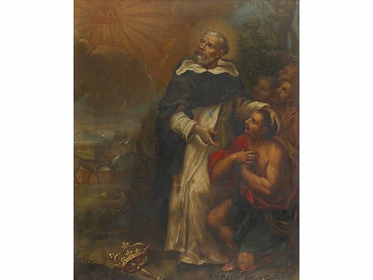 18th century spanish school saint dominic by sala retiro subastas - Salaretiro
