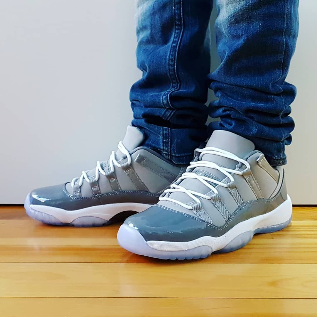 d6e4937a2caf Comment Go check out my Air Jordan 11 Retro Low Cool Grey on feet video.  Quick link in bio. . . . . .  jordansdaily  jumpman  sneakershouts   instagood ...