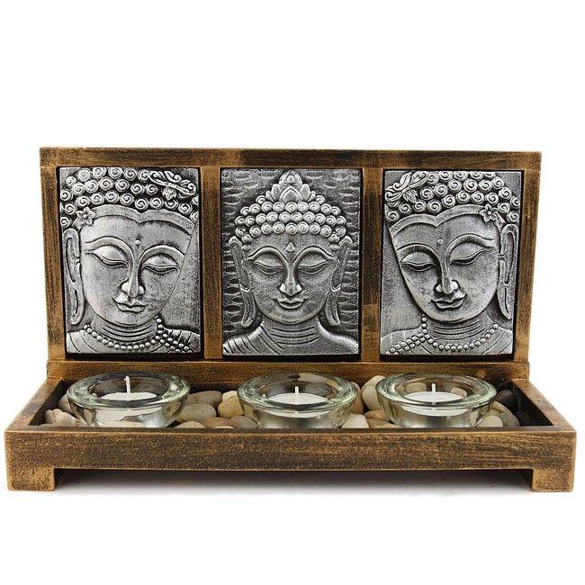 Décoration Zen Bougies   Jardin-Zen-3-Bouddha-Et-Bougies-Ambiance